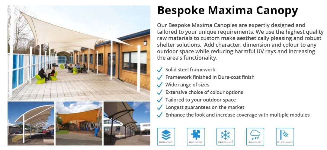 Bespoke Maxima Canopy Data Sheet
