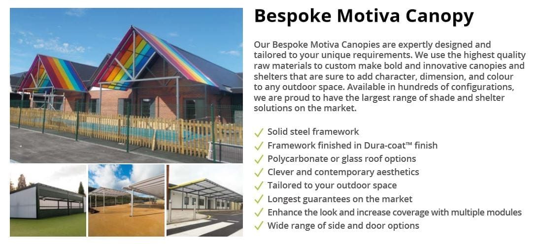 Bespoke Motiva Canopy Data Sheet