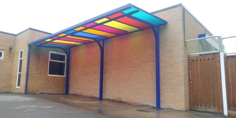 Shelter we installed at Billing Brook School