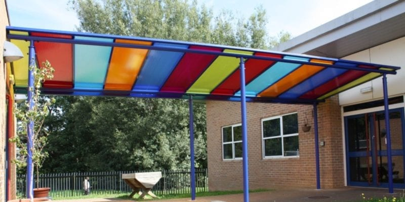 Shelter we designed for Billingbrook School
