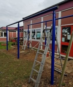 Blenheim Park Academy Canopy Steelwork