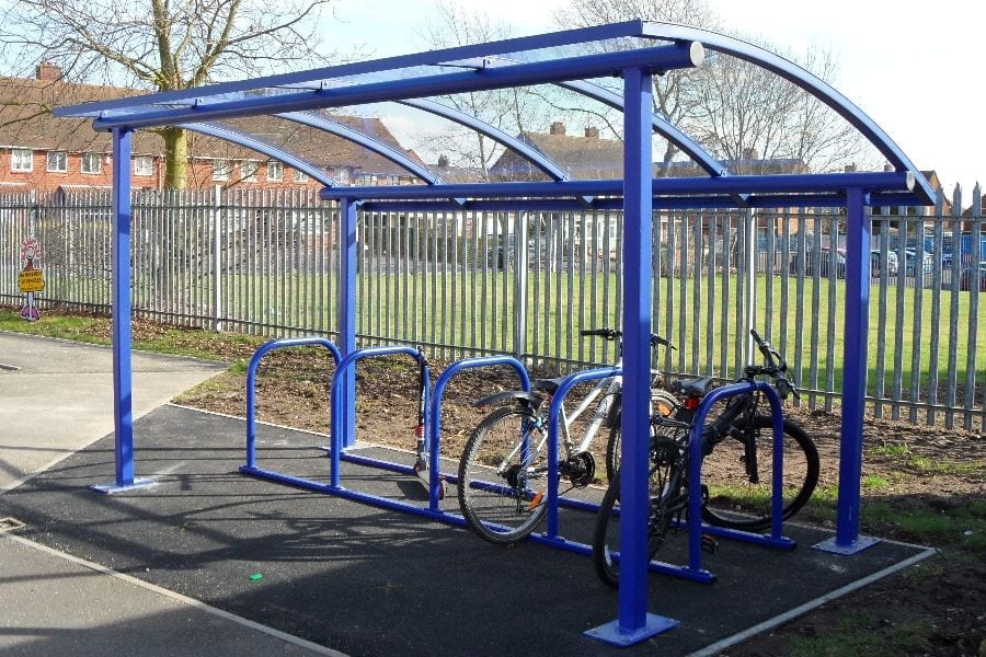 Blue Cycle Shelter
