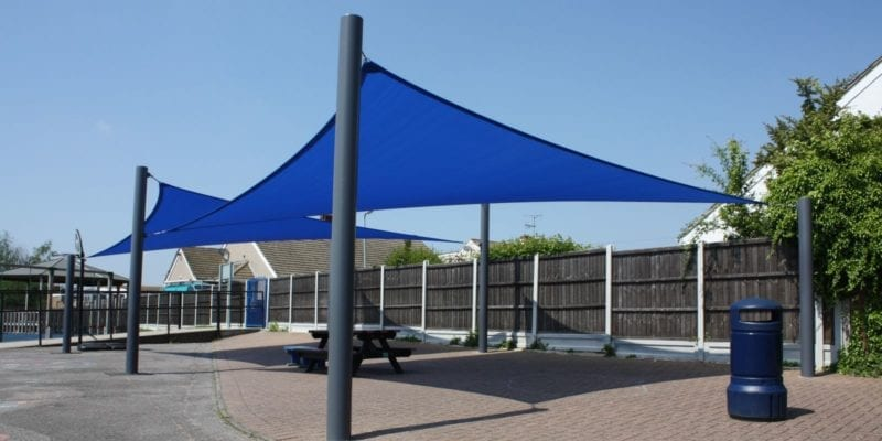 Blue Fabric Sail Shades