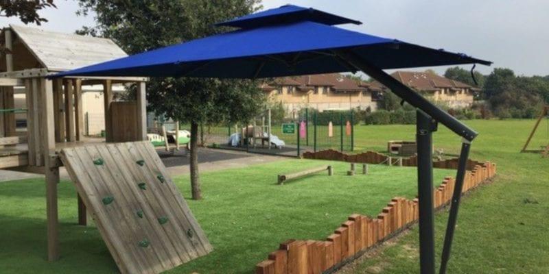 Blue Playground Parasol