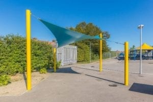 Blue Playground Shade Sail