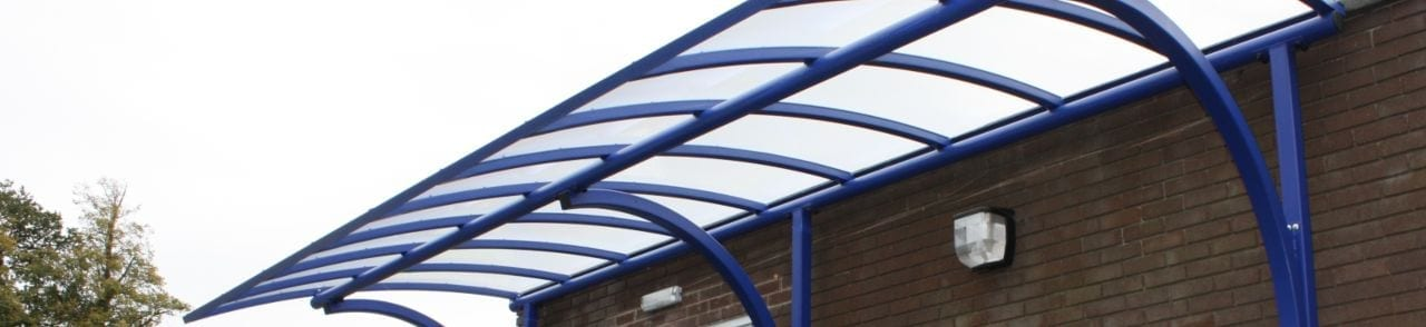 Blue Cantilever Canopy