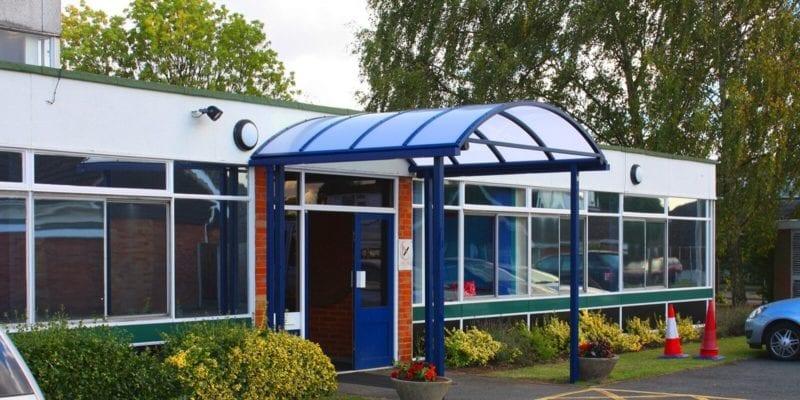 Burlish Park Primary School Entrance Canopy