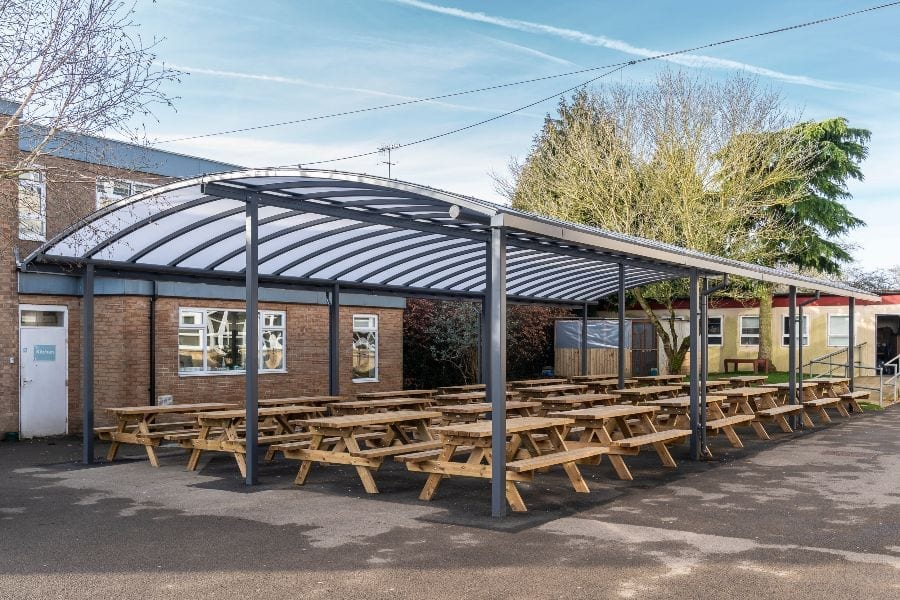 Shelter we installed at Cirencester College