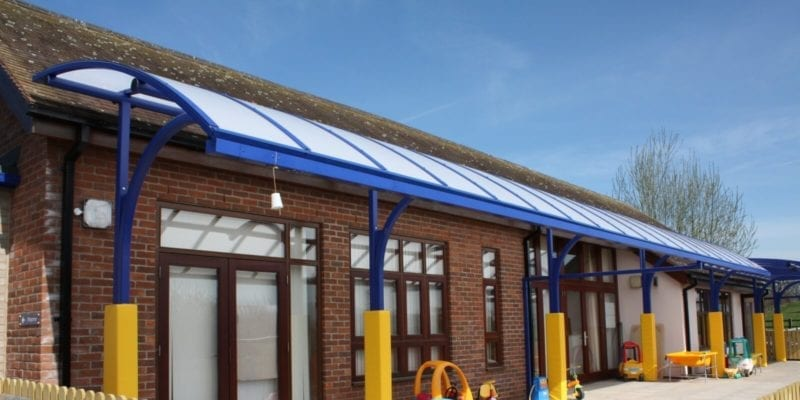 Corvedale Primary School Cantilever Canopy