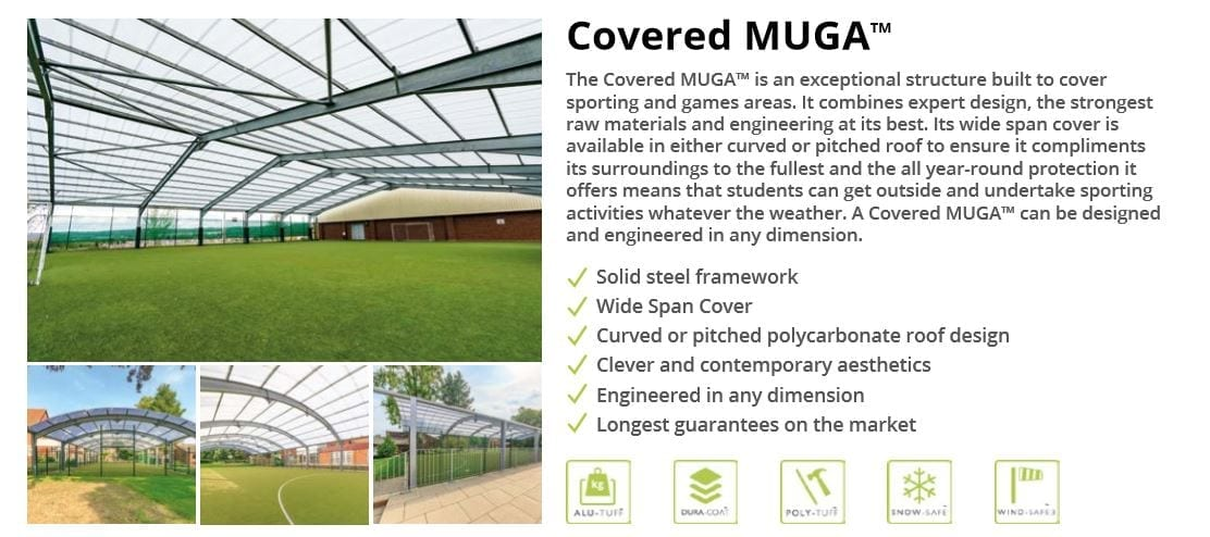 Covered MUGA Data Sheet