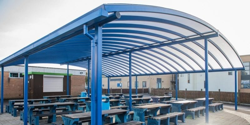 Tewkesbury School Curved Roof Canopy