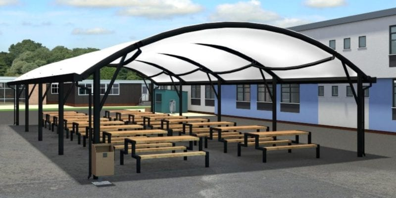 Curved Roof Fabric Canopy