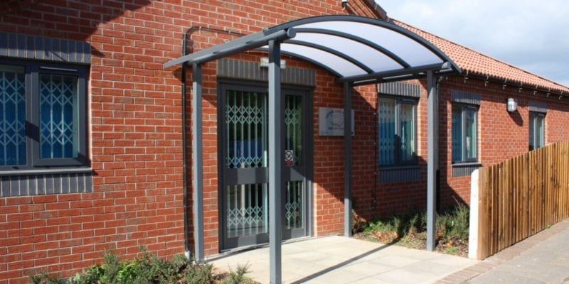 Curved Roof School Entrance Canopy