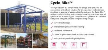 Cyclo Bike Shelter Data Sheet