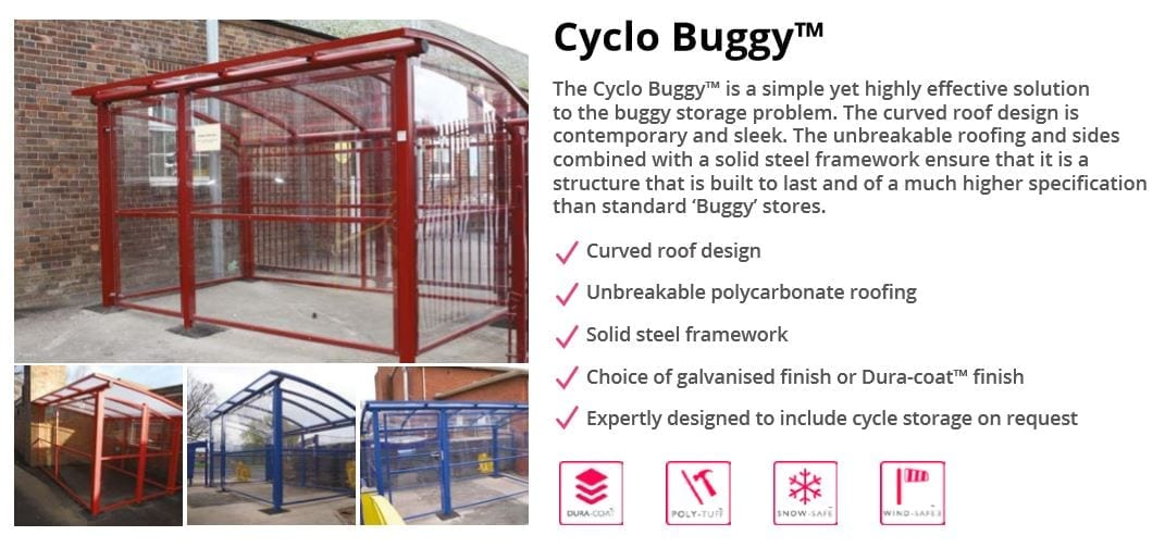 Cyclo Buggy Shelter Data Sheet