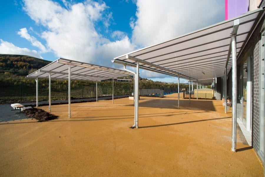 Canopies we made for Ebbw Fawr Learning Community