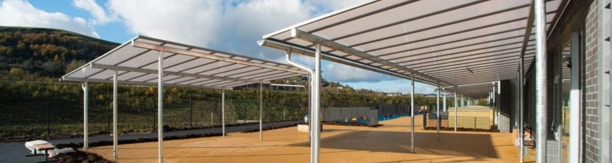 Shelter we installed at Ebbw Fawr Learning Community