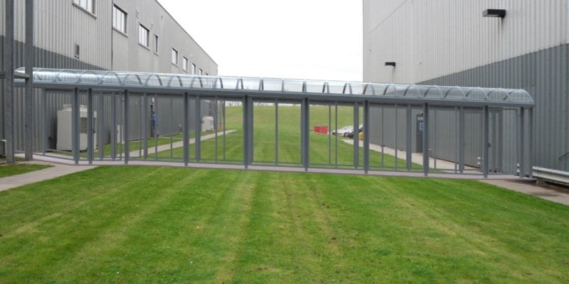 Enclosed Covered Walkway