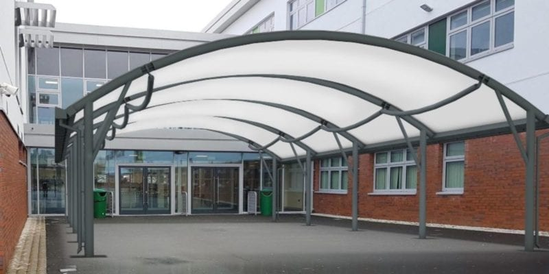 Fabric Curved Roof Canopy