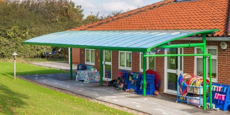 Green School Cantilever Canopy