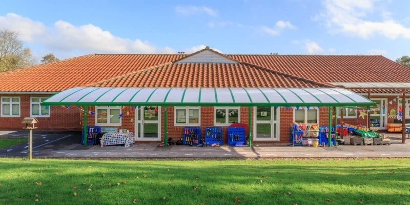 Green Nursery Cantilever Canopy