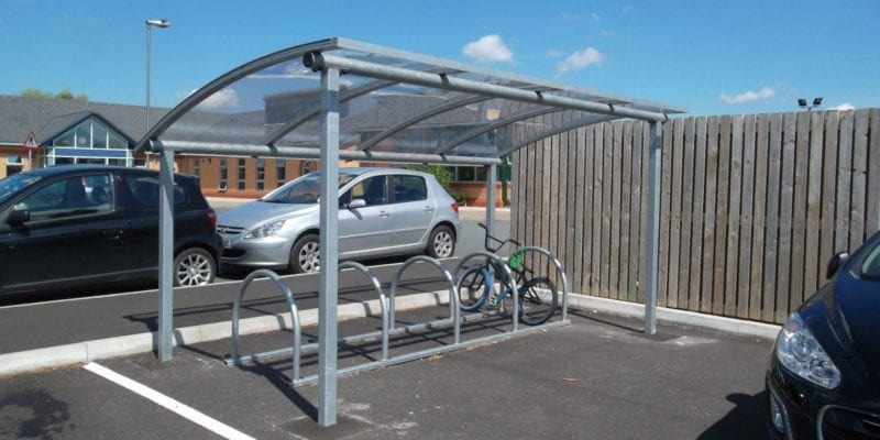 Grey School Cycle Shelter