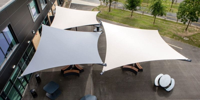 Shade sails we designed for Hessle Academy