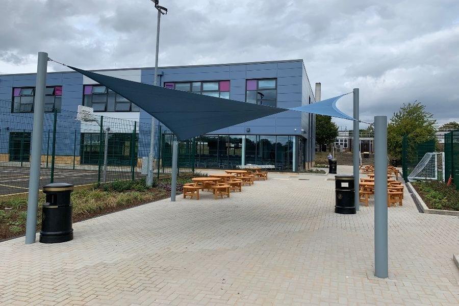 Sail shade designed for Jack Hunt School