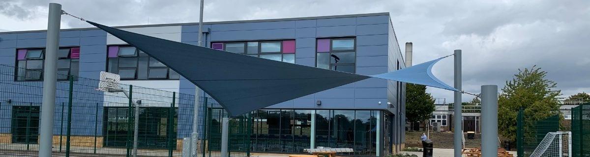 Sail shade we installed at Jack Hunt School
