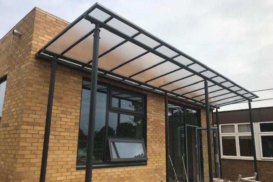 Shelter we designed for Jack Hunt School