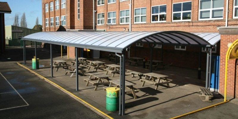 Kingsbury School Dining Area Canopy