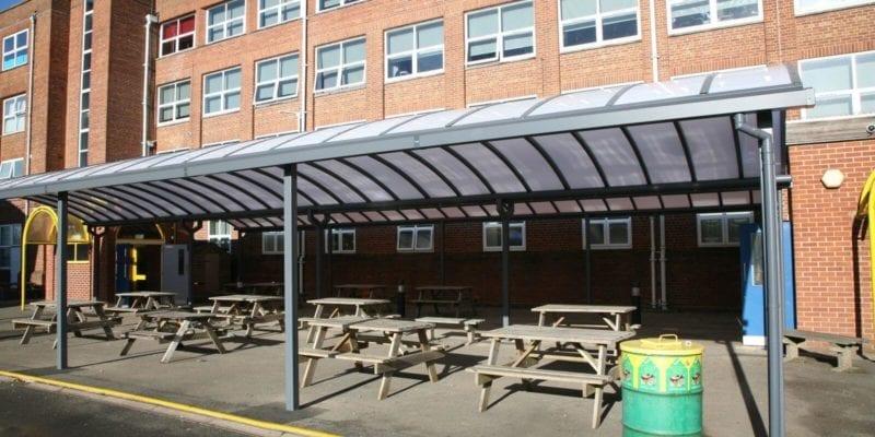 Shelter we installed for Kingsbury School