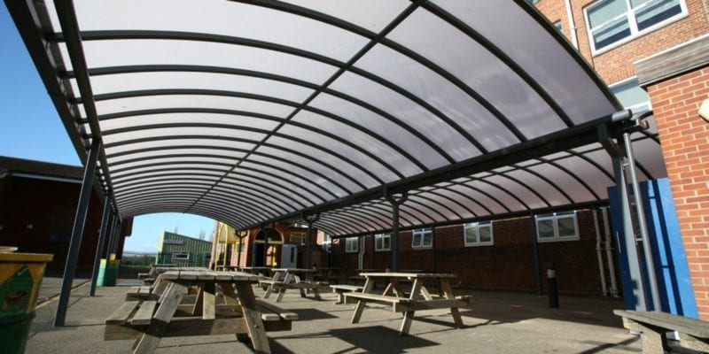 Large Curved Roof Canopies