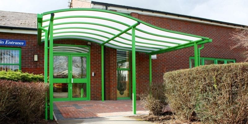Lougborough Primary School Entrance Canopy