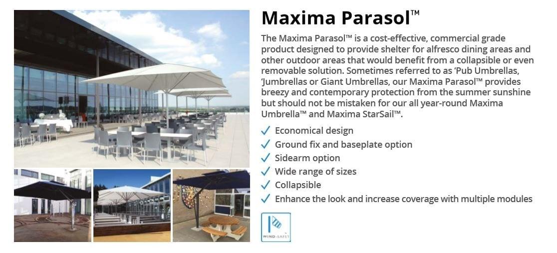Maxima Parasol Canopy Data Sheet