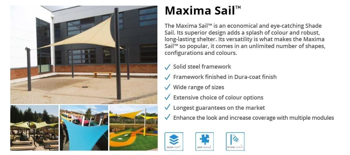 Maxima Sail Canopy Data Sheet