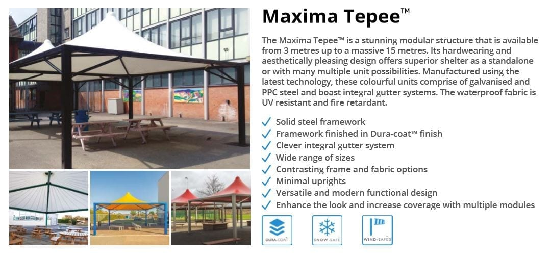 Maxima Tepee Canopy Data Sheet