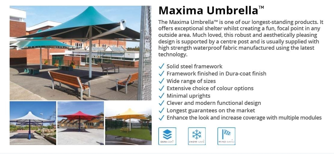 Maxima Umbrella Canopy Data Sheet