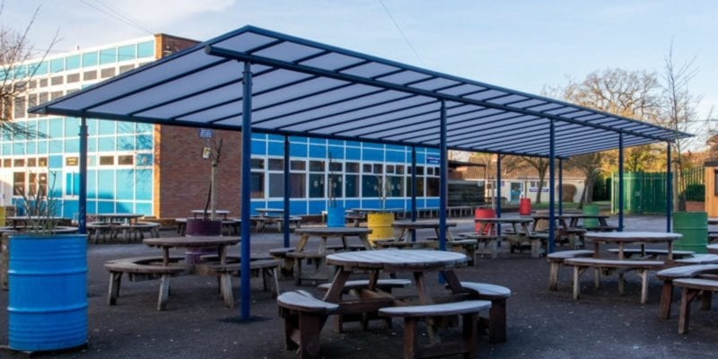Shelter we fitted at Meole Brace School