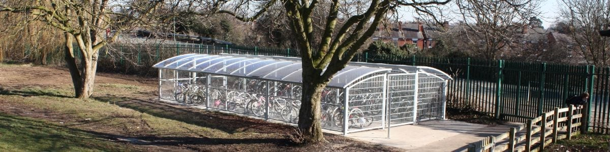 Cycle shelter we designed for Meole Brace School
