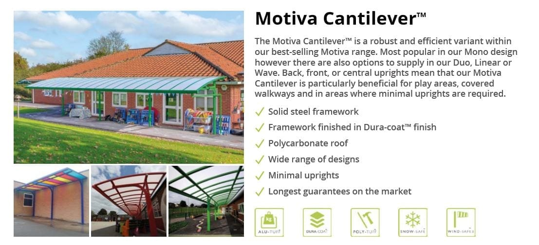 Motiva Cantilever Canopy Data Sheet