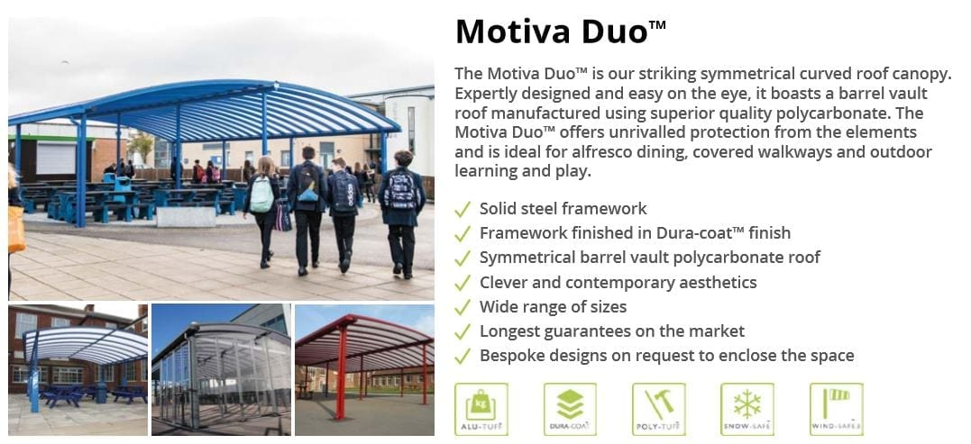 Motiva Duo Canopy Data Sheet