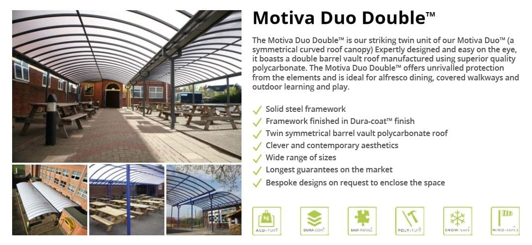 Motiva Duo Double Canopy Data Sheet