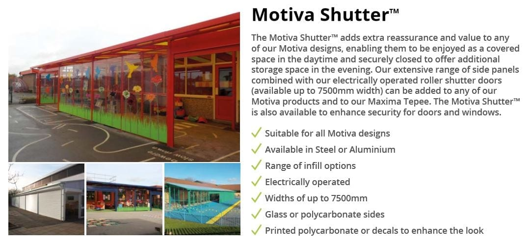 Motiva Shutter Canopy Data Sheet