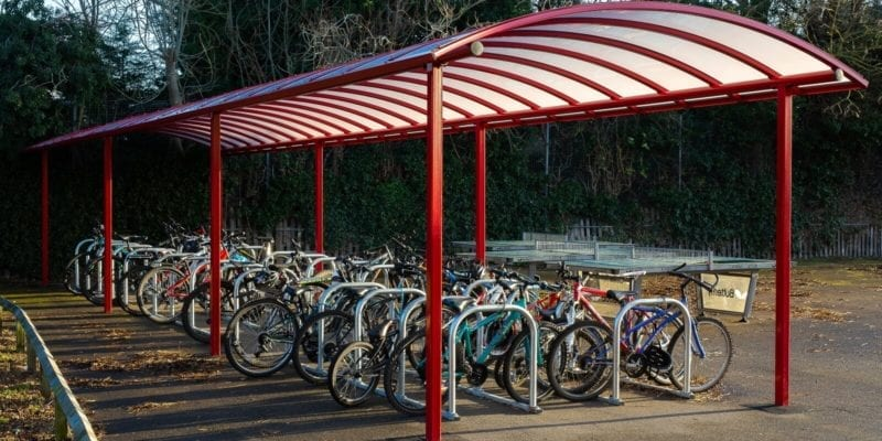 Myton School Red Cycle Shelter