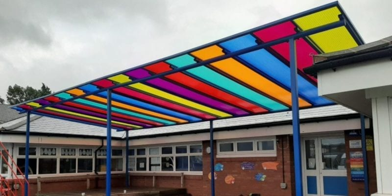 Canopy we designed for Old Church Primary School