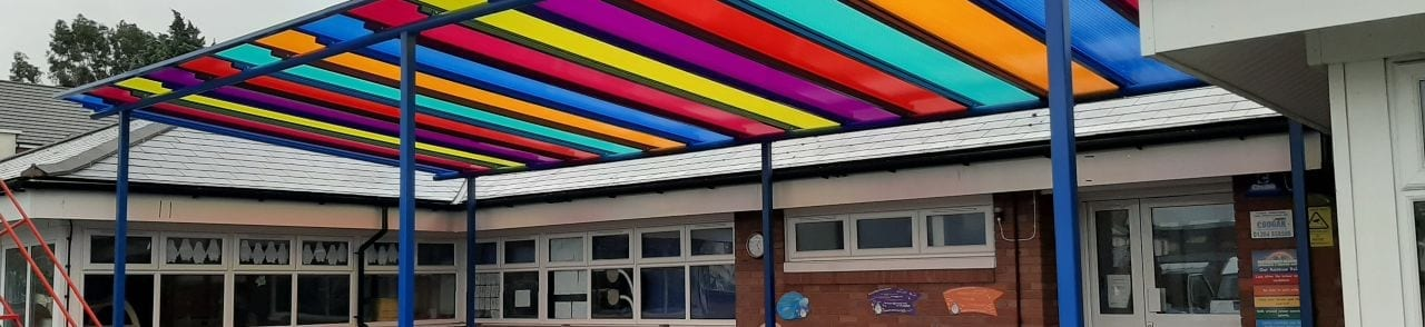 Old Church Primary School Colourful Canopy