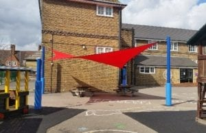 Canopy we designed for Old Oak Primary School