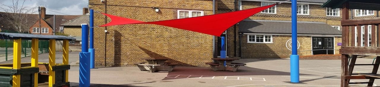 Old Oak Primary School Red Shade Sail