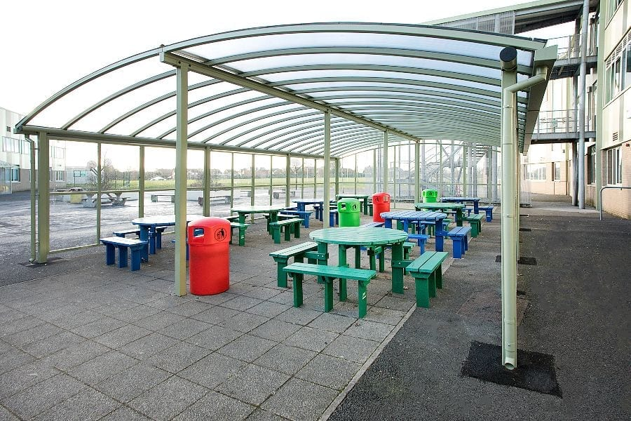 Canopy we fitted at Our Lady's RC High School